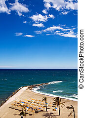 View of Costa Del Sol beach, Spain