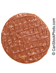 Chocolate digestive biscuit studio cutout