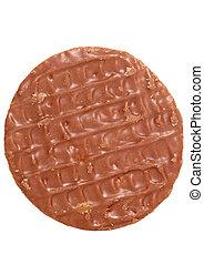 Chocolate digestive biscuit studio cutout