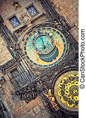 astronomical clock in Prague, Czech Republic - Orloj...