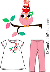 pattern for children wear clothing