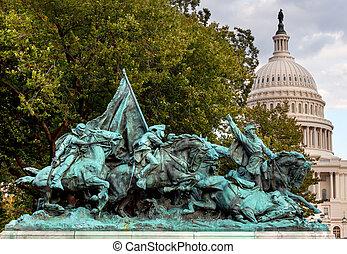 Calvary Charge US Grant Statue Civil War Memorial Capitol...