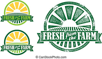 Fresh from the Farm StampSeal - Farm fresh stampseal vector...