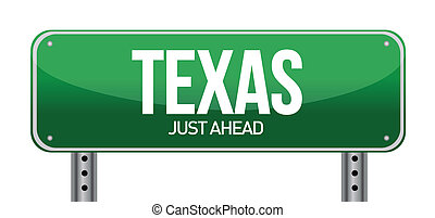 Texas Road Sign illustration design over a white background