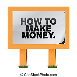 how to make money on a wood sign illustration design