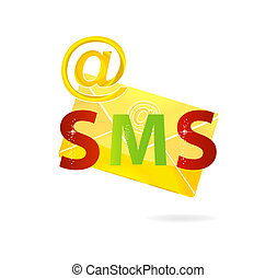 clear gold mail icon message isolated