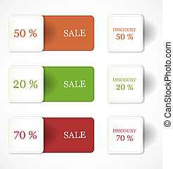 Discount labels and stickers