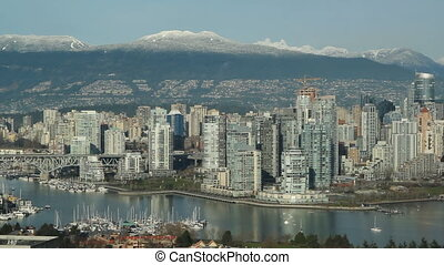 Vancouver skyline with Bridge - View of downtown Vancouver...