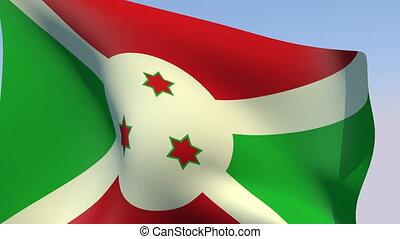 Flag of Burundi - Flags of the world collection - Burundi