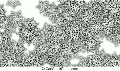 snowflake as christmas background