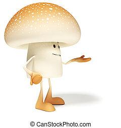 cibo, carattere,  -, fungo