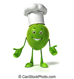 Food character - lime