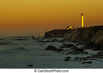 Point Arena Lighthouse sunrise