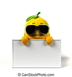 Lemon character - 3d rendered illustration of a lemon...