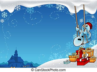 Snowy Christmas 8 - background illustration 