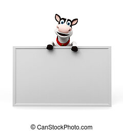 Cow character - 3d rendered illustration of a toon cow