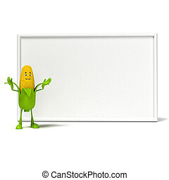 Food character corn cob