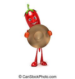 Food character - chili