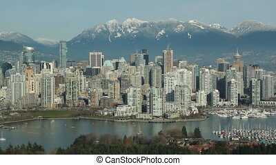 Vancouver skyline - View of downtown Vancouver Looking north...