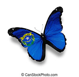 Flag of Nevada butterfly, isolated on white
