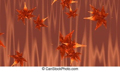 Floating Leaves Animation