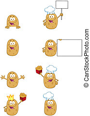 Potato Characters-Collection - Potato Cartoon Mascot...