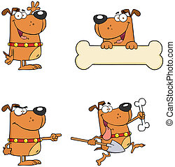 Dogs Cartoon Mascot Characters-Collection