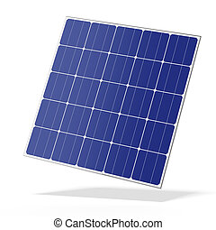 Solar battery panel  isolated on a white background