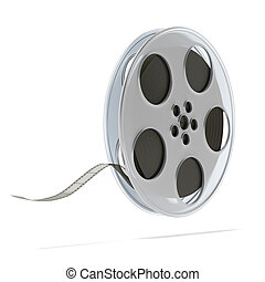 Movie film reel isolated on a white background