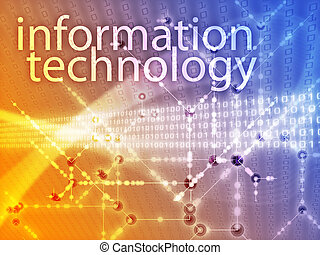 Information technology illustration, Digital data transfer...