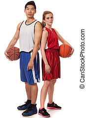 Basketball Players - Male and female basketball players....