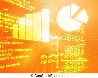 Spreadsheet business charts illustration - Illustration of...