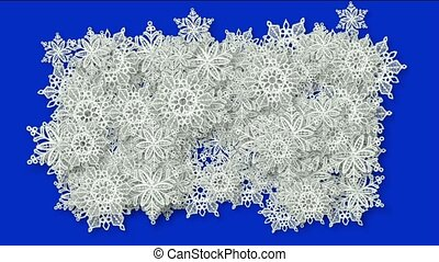 snowflake as chrismas background
