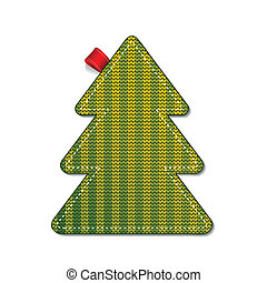 Knitted pine tree