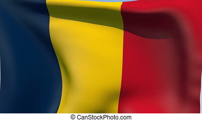 Flag of Chad - Flags of the world collection - Chad