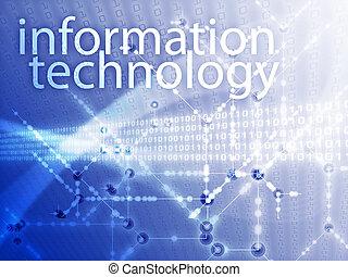 Information technology illustration, Digital data transfer...