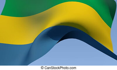 Flag of Gabon - Flags of the world collection - Gabon