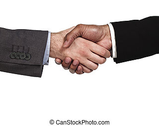 close up of business colleagues shaking hands