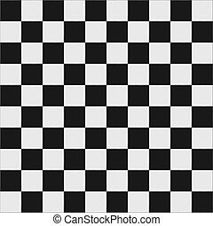 Black and white checkered floor tiles with texture. This...
