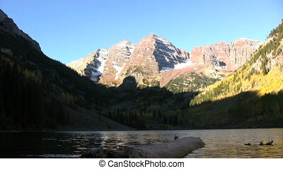 Maroon Bells in Fall - maroon bells reflected in maroon lake...