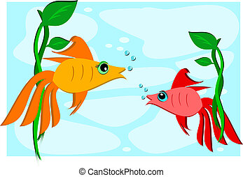 Two Goldfish Friends