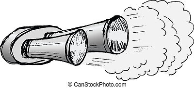 car exhaust pipe - illustration of car exhaust pipe