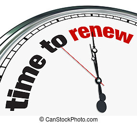 Time to Renew - Clock