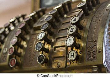 Cash register - Old cash register close-up.