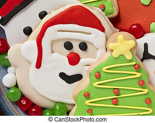 christmas cookies and colorful candies - Christmas cookies...