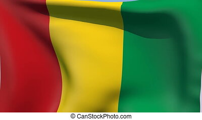 Flag of Guinea - Flags of the world collection - Guinea