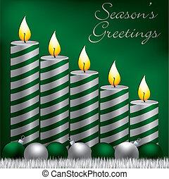 Merry Christmas! - Season's Greetings candle, bauble and...