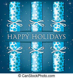 Merry Christmas! - Happy Holidays spotty cracker card in...