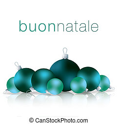Merry Christmas - Italian Merry Christmas bauble card in...