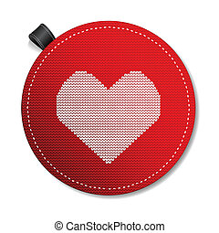 Valentine's knitted  heart